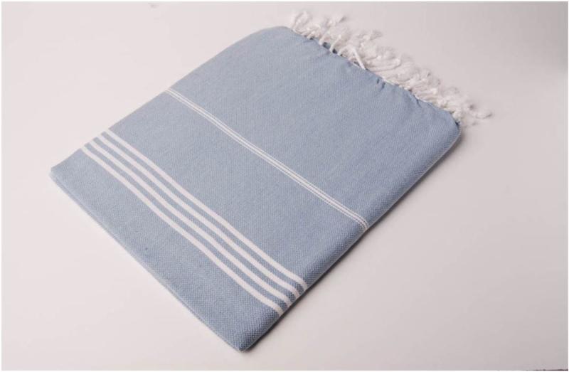 Hamamdoek 170x220 - blauw