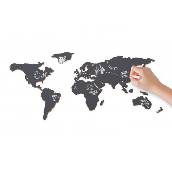 Krijtbord wereld