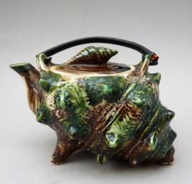 Japanse Mid Century studio pottery schelp theepot 400 ml