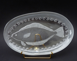 Walther Glass Siebenstern Collection glazen visschaal