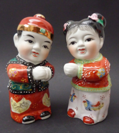 Chinese porseleinen Golden Boy en Jade Girl