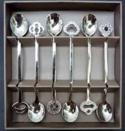 Sambonet RVS koffielepeltjes New Oriental - set van zes