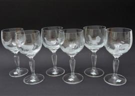 Kristallen wijnglas met jachtdecor Klingenbrunn Kristallglas - set van zes