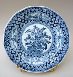 Petrus Regout achtkantig chinoiserie bord in Kangxi stijl