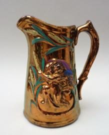 Antieke Engelse goudsteen aardewerk kan