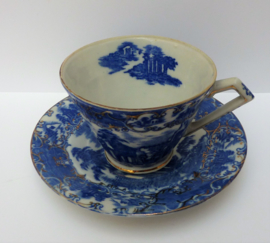Antieke Staffordshire  transferware kop en schotel