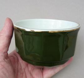 Apilco bistroware confiturepot in groen met goud