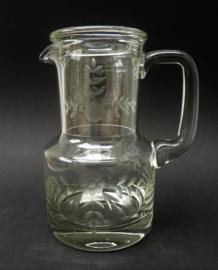 Bedside waterkan en glas met gravure