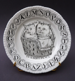 Adams Ironstone ABC kinderbordje met poesjes In a soft place