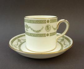 Crown Staffordshire Apollo koffiekop en schotel