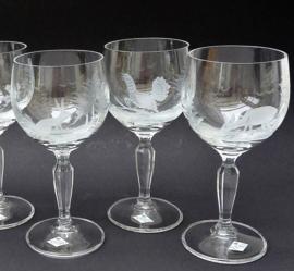 Kristallen witte wijnglas met jachtdecor Klingenbrunn Kristallglas - set van 3