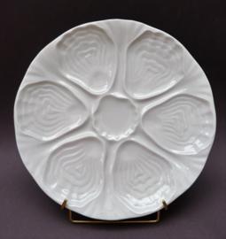 Apilco France whiteware Limoges porseleinen oesterbord