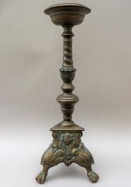 Antieke Franse bronzen altaar penkandelaar