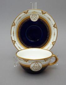 Societe Ceramique theekop en schotel