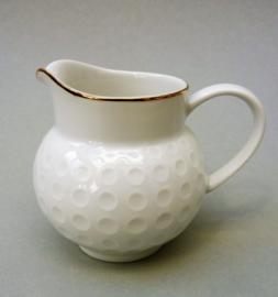 Arzberg Heinrich Loffelhardt vorm 2375 Golfbal roomkannetje in wit met goud