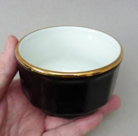 Apilco France bistroware suikerpot zwart met goud