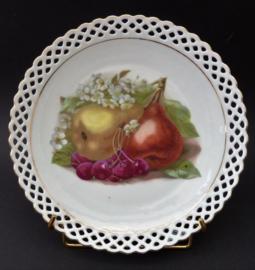 Schumann Bavaria fruitbordje peren met opengewerkte rand