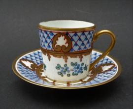 J Dumont Limoges porseleinen demitasse espresso kop en schotel