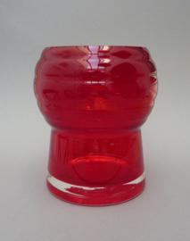 Schott Zwiesel rode kristallen vaas