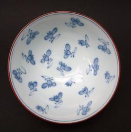 Japanse Arita blauw wit porseleinen rijstkom