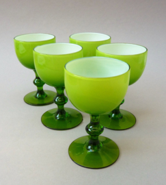 Carlo Moretti Mid Century port sherry glas groen - set van vijf