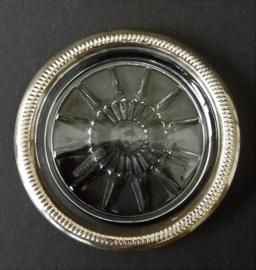 Leonard Italy glas onderzetter met verzilverde rand - set van vier