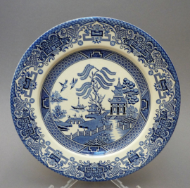English Ironstone Blue Willow dinerbord