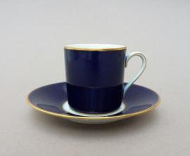 Rosenthal Mid Century kobaltblauwe espresso kop en schotel