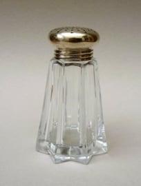 Kristallen strooibus in stervorm met verzilverde dop