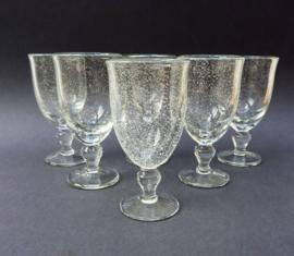 Bubbeltjesglas wijnglas transparant - set van zes