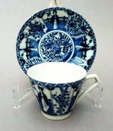 Vintage Royal Blue Lange Lijs kop en schotel