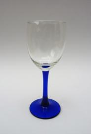 Luminarc France Neptune wijnglas op blauwe voet