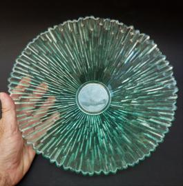 Pavel Panek Sklo Union Libochovice groene glazen schaal