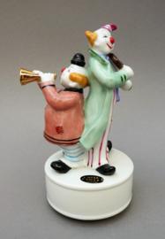 Kato Kogei Japan porseleinen speeldoosje clowns