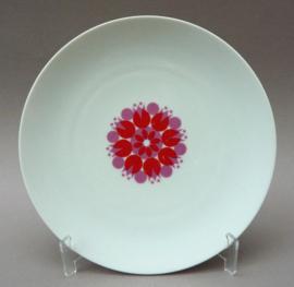 Thomas Medaillon Pinwheel red bord 21 cm