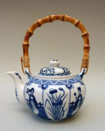 Vintage Royal Blue Lange Lijs theepot