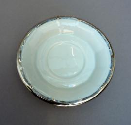 Pillivuyt losse schotel wit met zilver