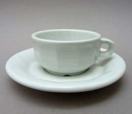 Pillivuyt witte bistroware porseleinen petit creme kop en schotel