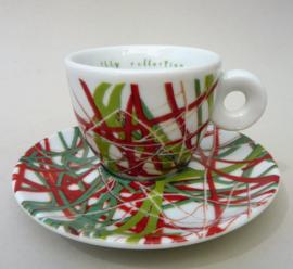 Illy Art Collection 1996 James Rosenquist Italian Riviera espresso kop met schotel 35546