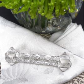 Antieke geslepen kristallen messenlegger - set van zes