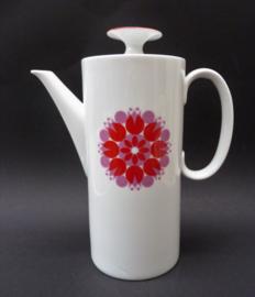 Thomas Medaillon Pinwheel red koffiepot