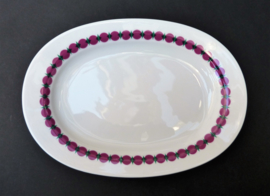 Thomas Rotunda roze groen platte ovalen serveerschaal
