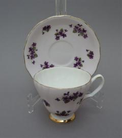 Ridgway Colclough potteries roze bone china theekop en schotel