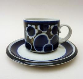Arabia Saara koffiekop met schotel
