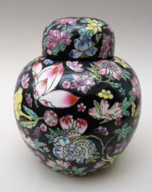 Chinese Jingdezhen porseleinen Famille Noir Millefleur gemberpot
