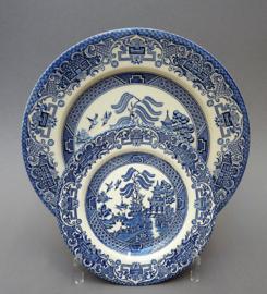 English Ironstone Blue Willow broodbordje