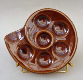 Japans escargots bord in slakkenhuis vorm 6 gaats
