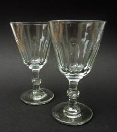 19e eeuws knoop paraplu glas - set van twee