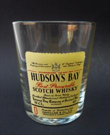 Vintage Hudsons Bay whisky glas