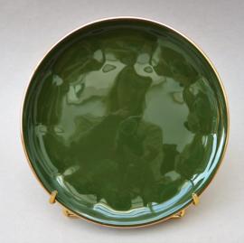 Apilco petit dejeuner taart bordje groen Vert Empire en goud